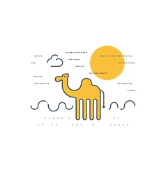 Camel outdoor simple cartoon vector image