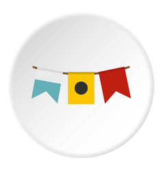 Colorful flags icon circle vector