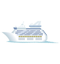 cruise ship vector image