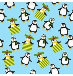 Cute christmas penguin vector