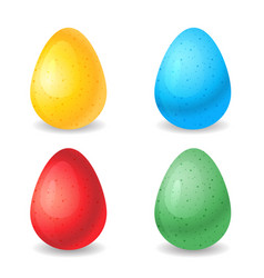eggs different colors vector image vector image