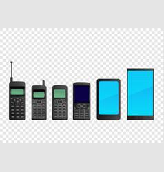 Evolution mobile phone smartphone vector