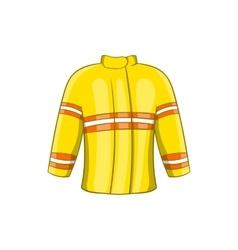 Fire jacket icon cartoon style vector
