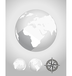 Flat design Earth vector image vector image