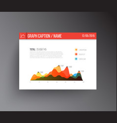 flat design infographics statistics graph vector image vector image