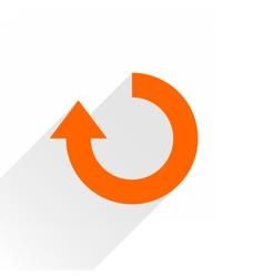 Flat orange arrow iconrefresh rotation sign vector