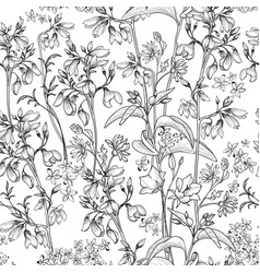 floral seamless pattern flower background spring vector image vector image
