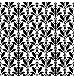 flower pattern silhouette vector image vector image