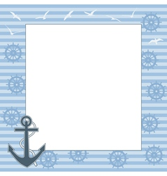 frame for text or photo with the anchor vector image vector image