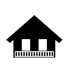 Italian house icon vector