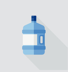 Large water bottle vector