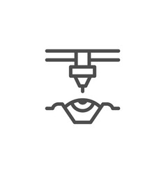 laser vision correction line icon vector image
