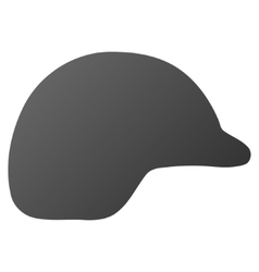 Motorcycle helmet gradient icon vector