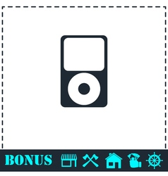 Mp3 player icon flat vector