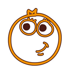 orange fruit kawaii character vector image