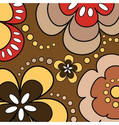 retro flowers vector image vector image