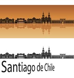 Santiago de chile skyline in orange vector