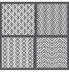 Set of 4 monochrome elegant seamless patterns vector image vector image