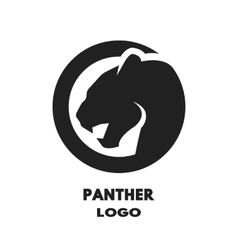 Silhouette of the panther logo vector image vector image