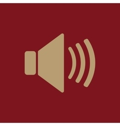 The speaker icon sound symbol flat vector
