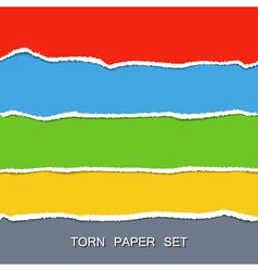 torn paper set vector image vector image