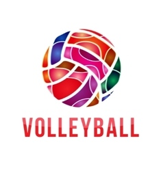 Volleyball logo volleyball vector