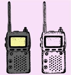 walkie talkie vector image vector image