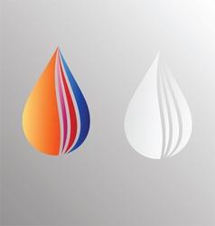 Water drop symbol design vector image vector image