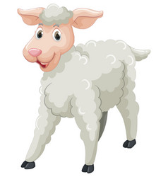 White sheep with happy face vector