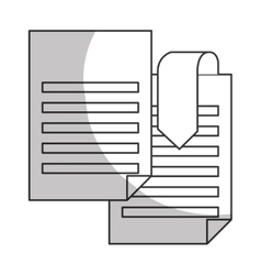 Document paper icon image vector