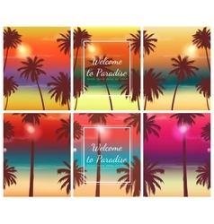 Travel brochure with exotic landscape vector image