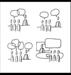 Business discussion situations vector