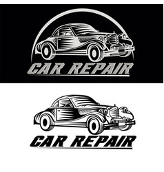 Car repair logo team vector