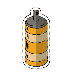 cartoon spray can container icon vector image