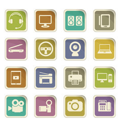 device icon set vector image