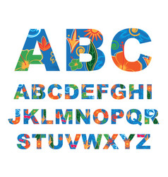 summer alphabet capital letters vector image