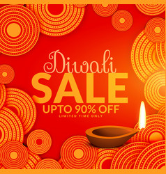 Amazing diwali sale festival voucher background vector