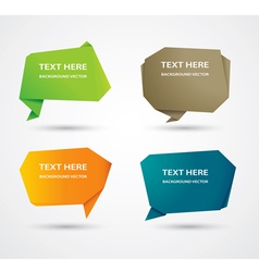 Abstract origami speech bubble background vector