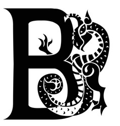 Gargoyle capital letter b vector