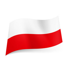 National flag of poland white and red horizontal vector