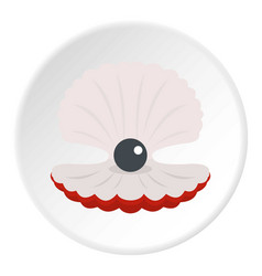 pearl in a shell icon circle vector image