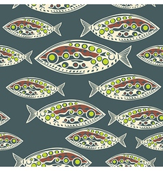 Seamless pattern of fish abstract texture elements vector