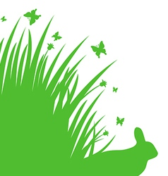Grass back vector