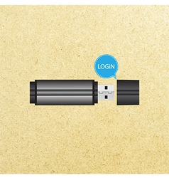 Login button for user interface vector image