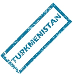 Turkmenistan rubber stamp vector