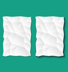 Set of crumpled sheets paper vector