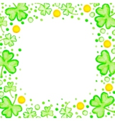 St patricks day holiday frame vector
