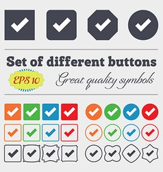 Check mark sign icon confirm approved symbol big vector