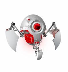 Plastic robot vector image