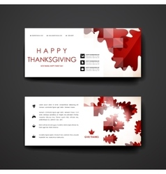 Set of modern design banner template in autumn vector